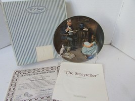 KNOWLES COLLECTOR PLATE THE STORYTELLER ROCKWELL HERITAGE  8TH  13293 CO... - $4.90
