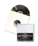 500 BCW 33 1/3 RPM Polylined Sleeves With Hole & Square Corners Record A... - $155.28
