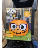 Brand new! halloween 5 foot cute pumpkin airblown inflatable yard decor - $63.99