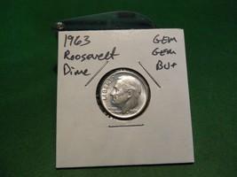 1963 Roosevelt Dime GEM GEM BU+++ High Grade!!! Super Nice Silver Dime!!! - $2.59