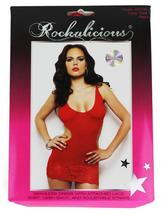 Rockalicious Women's Stretch Mini Sexy Lingerie Dress One Size Red #R105 image 3
