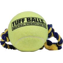 Petsport Yellow Mega Tuff Ball Tug Dog Toy 4 In 713080701551 - £14.34 GBP