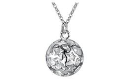 Silver Plated Wave Pendant Necklace - $13.49