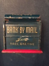Handmade Antique Bank By Mail - Wood Envelopes Holder Made to look like ... - $18.92