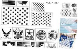 14 pcs American Flag Stencil Templates & Star Stencil & Navy Stencil for... - $19.11