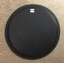 "Vintage Neiman Marcus Metal Round Serving Tray Platter Italy 17"" Orange Rustic image 6"