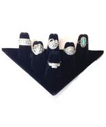 TWO 6-Finger Ring Display Black Velvet Jewelry Showcase rings Triangle - $14.95