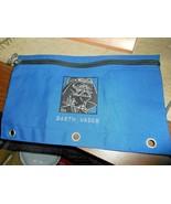 Star Wars Darth Vader Blue Pencil Bag or Utility Bag Zippered Cloth Viny... - $9.89