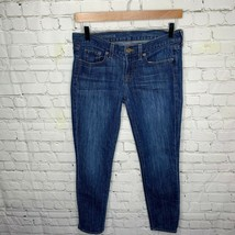 J Crew Women's Toothpick Ankle Skinny Jeans Med Wash Size 27 - $24.03