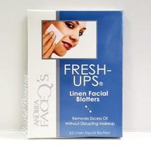 Andrea Face Q's FRESH-UPs 65 Linen Facial Blotters. Removes Excess Oil without D - $6.92