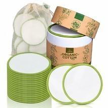 100% Organic Cotton Eco-Friendly 20 Makeup Remover Pads Rounds Reusable ... - £21.26 GBP