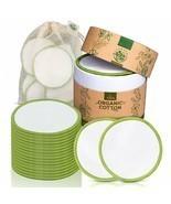 100% Organic Cotton Eco-Friendly 20 Makeup Remover Pads Rounds Reusable ... - $29.00