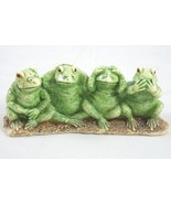 One Set of 4 See No Evil Frogs sitting together - Figurine, See, Speak, ... - $18.87