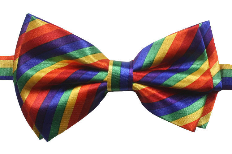 WHOLESALE BOWTIES - Soft Silky Pre-tied RAINBOW Selections  60/120/240 BULK Lots