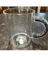 Starbucks Fall 2021 Glass 12 oz Confetti Handle Mug,  Brand New Purple Teal - $38.49