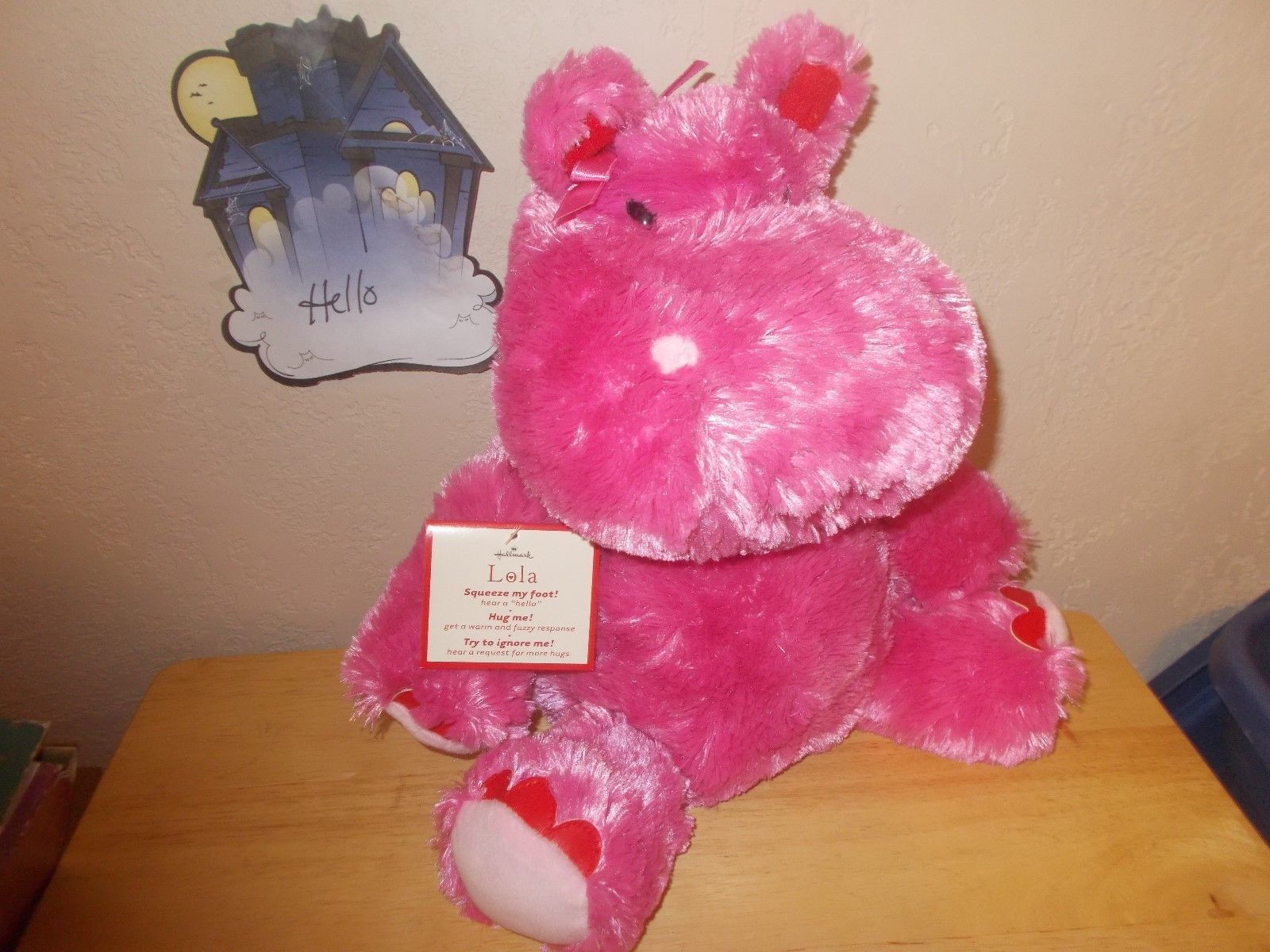Hallmark Lola the Hippopotamus, Valentine Plush Toy