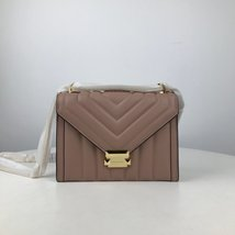 MICHAEL KORS WHITNEY QUILTED LARGE LEATHER SHOULDER BAG Fawn - $269.00
