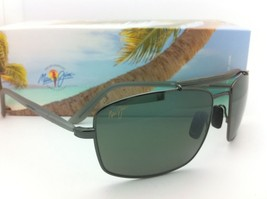 Neu Maui Jim Sonnenbrille Manele Bucht Mj 224-17 57-18 Rotguss mit / Grau