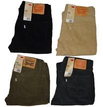 Levi's Men's 514 Straight Fit Corduroy Pants Green Graphite Black Beige ... - $47.99