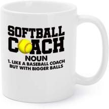 Softball Coach Definition Funny Softball Coach Gift Coffee Mug - $16.95