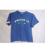 New ADIDAS Blue White T-shirt sz S Children Boys - $14.39