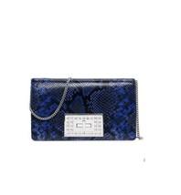 Michael Kors Ellie Medium Python Leather Embossed Flap Clutch / Shoulder... - $159.00