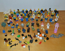 LEGO Mini Figure Large Lot Minecraft NINJAGO Batman Parts Accessories & Others - $67.24