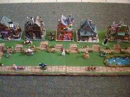 4 FT Halloween Christmas Easter Village Display Platform Base HW25-Dept ... - $125.95