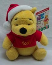 "Mattel Disney Holiday Winnie The Pooh Bear W/ Santa Hat 6"" Plush Stuffed Animal - $18.32"