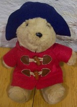 "Sears PADDINGTON BEAR IN RED COAT 8"" Plush STUFFED ANIMAL Toy - $15.35"