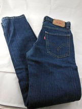Levis 510 Kids Super Skinny Jeans Size 12 Regular 26 x 26.5 Blue Cotton Blend - $18.80