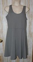 Womens Black & White Polka Dot Bobbie Brooks Sleeveless Dress Size 1X ex... - $7.91