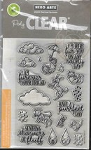 Hero Arts #CM151 Poly Clear Stamp Set & Die Combo - Raining Cats & Dogs ... - $19.00