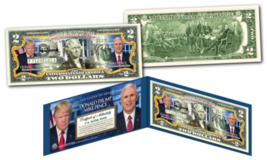 DONALD TRUMP & MIKE PENCE Pres / VP * OFFICIAL PHOTOS * Legal Tender US ... - $13.95