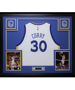 Stephen Curry Autographed Jersey Framed $795 Golden State Warriors - $795.00