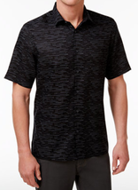 Alfani Men's Dash-Print Shirt, Deep Black, Size S, MSRP $55 - $21.77