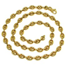 18K YELLOW GOLD SOLID MARINER CHAIN BIG 6 MM, 24 INCHES, ANCHOR ROUNDED ... - $2,830.00