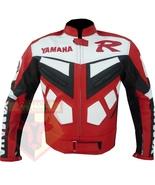 YAMAHA R RED MOTORCYCLE MOTORBIKE ARMOURED COWHIDE LEATHER SPORTS BIKE J... - $194.99