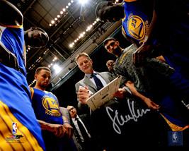 STEVE KERR Signed Golden State Warriors Team Huddle 8x10 Photo - SCHWARTZ - $64.69