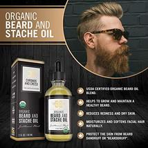 Certified Organic Beard Oil 2oz | For Softer, Smoother Facial Hair Growth | Leav image 3