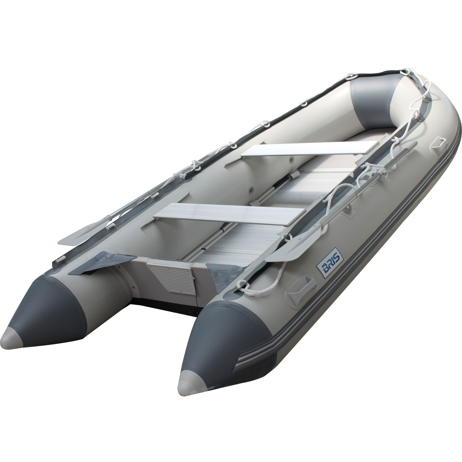 10.8 ft Inflatable Boat  Raft Fishing Dinghy Tender Pontoon Boat Gray