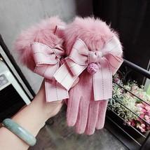 Winter Women Gloves Touch Screen Thicken Warm Full Finger Mittens Female... - $20.77