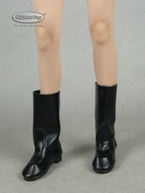 1/6 Phicen, TB League, Hot Toys, Play Toy - Female Short Black Leather Boots - $16.34