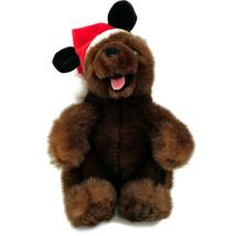 Disney Santa Grr Bear Plush 2002 Mickey Ear Hat Christmas Teddy Stuffed ... - $18.42