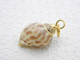 VTG Gold Toned Accented Conch Shell Pendant B - $19.80
