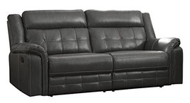 Homelegance Keridge 85? Leath-Aire Reclining Sofa, Gray - $950.18