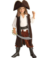 Adorable Rubies Caribbean Pirate Complete Costume, Yarn Hair, Small - $21.14