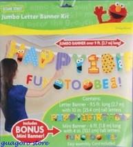 SESAME STREET 1st FIRST BIRTHDAY JUMBO LETTER BANNER KIT PARTY SUPPLY DE... - $9.99