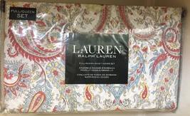 Ralph Lauren Duvet Cover Set 3 pc Floral Paisley Medallion Red Blue Full... - $133.16