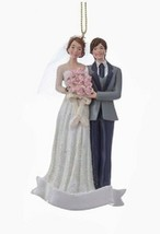 "KURT S. ADLER 4.25"" RESIN WEDDING COUPLE NEWLYWEDS CHRISTMAS ORNAMENT ST... - $9.88"